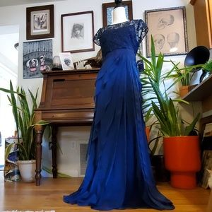 Adrianna Papell navy gown